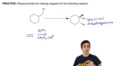 Please provide the missing reagents for the following reaction.  ...