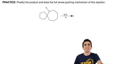 Predict the product and draw the full arrow-pushing mechanism of this reaction...