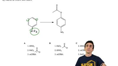 Which sets of reagents would best be used to perform the following reaction?  ...