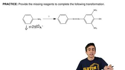 Provide the missing reagents to complete the following transformation.  ...