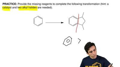 Provide the missing reagents to completethe following transformation (hint: a...