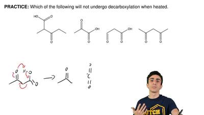 Which of the following will not undergo decarboxylation when heated. ...