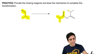 Provide the missing reagents and draw the mechanism to complete this transform...