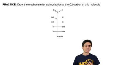 Draw the mechanism for epimerization at the C2 carbon of this molecule ...
