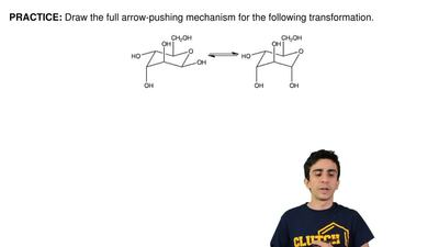 Draw the full arrow-pushing mechanism for the following transformation. ...