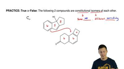 True or False: The following 2 compounds are constitutional isomers of each ot...
