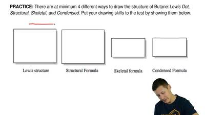 There are at minimum 4 different ways to draw the structure of Butane:  Lewis ...