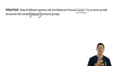 Draw 4 different isomers with the Molecula Formula C4H8O. Try to come up with ...