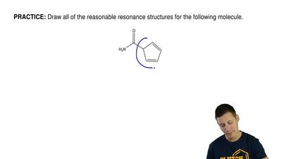 Draw all of the reasonable resonance structures for the following molecule. ...