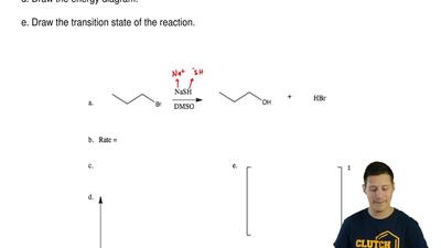 Consider the following SN2reaction below and answer the following questions:...
