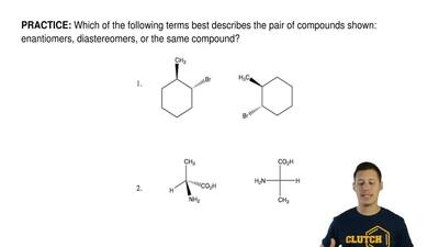 Which of the following terms best describes the pair of compounds shown: enant...