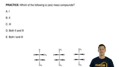 Which of the following is (are) meso compounds?  A. I  B. II  C. III  D. Both ...
