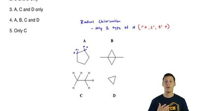 Which of the following products could be formed in good yield through radical ...