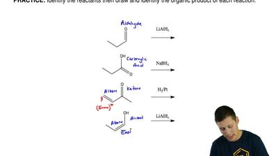 Identify the reactants then draw and identify the organic product of each reac...