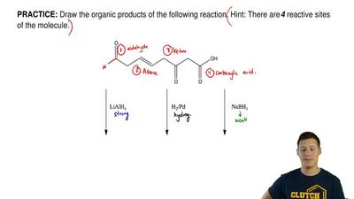 Draw the organic products of the following reaction. Hint: There are  4 reacti...
