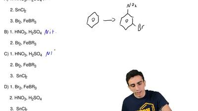 Which set of reagents will yield 3-bromonitrobenzene(m-bromonitrobenzene)?  A...