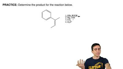 Determine the product for the reaction below. ...