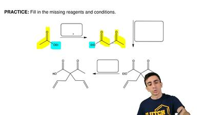 Fill in the missing reagents and conditions. ...