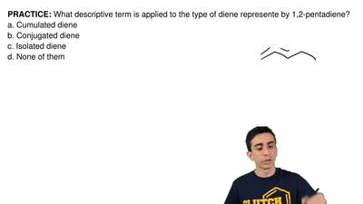 What descriptive term is applied to the type of diene represente by 1,2-pentad...