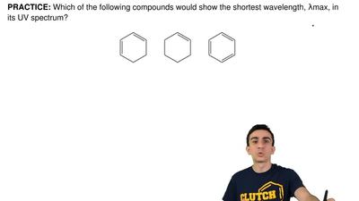 Which of the following compounds would show the shortest wavelength, λmax, in ...