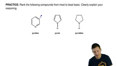 Rank the following compounds from most to least basic. Clearly explain your re...