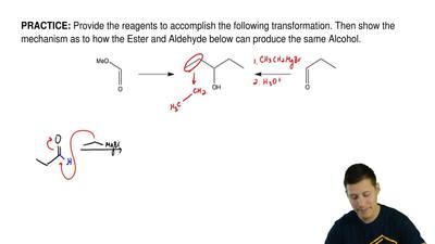 Provide the reagents to accomplish the following transformation. Then show the...