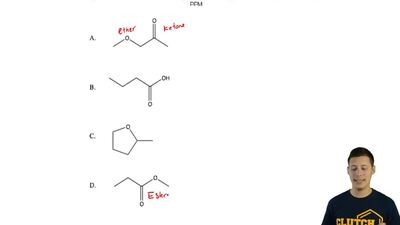 An unknown compound W has the molecular formula C 4H8O2. Based on the followin...