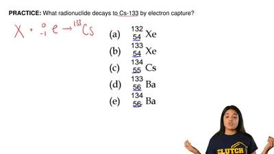 What radionuclide decays to Cs-133 by electron capture? ...