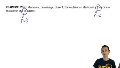 Which electron is, on average, closer to the nucleus: an electron in a 2s orbi...