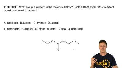 What group is present in the molecule below? Circle all that apply. What react...