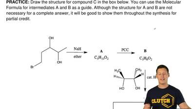 Draw the structure for compound C in the box below. You can use the Molecular ...