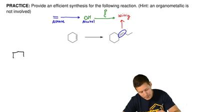 Provide an efficient synthesis for the following reaction. (Hint: an organomet...
