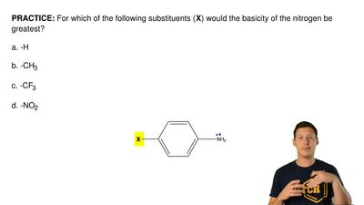 For which of the following substituents ( X) would the basicity of the nitroge...