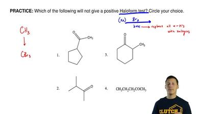 Which of the following will not give a positive Haloform test? Circle your cho...