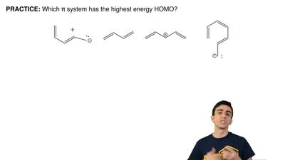 Which π system has the highestenergy HOMO? ...