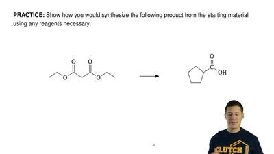Show how you would synthesize the following product from the starting material...
