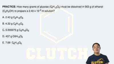 How many grams of glucose (C6H12O6) must be dissolved in 563 g of ethanol (C2H...