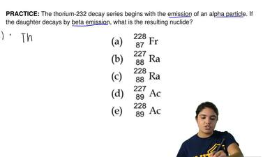 The thorium-232 decay series begins with the emission of an alpha particle. If...
