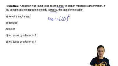 A reaction was found to be second order in carbon monoxide concentration. If t...