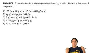 For which one of the following reactions is ΔH°rxn equal to the heat of format...