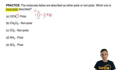 The molecules below are described as either polar or non-polar. Which one is i...