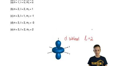 Which quantum numbers below could correctly describe the orbital to the right?...