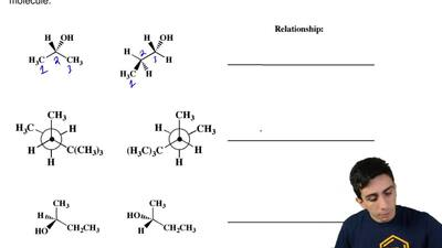 For each pair of molecules, on the line provided state the relationship betwee...