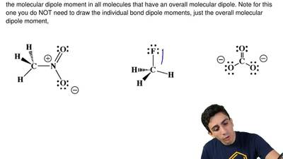 For the following molecules, use the dipole moment symbol to show the directio...