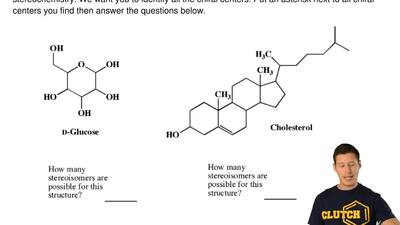 For the following important biological molecules, we have not indicated stereo...