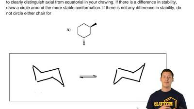 For the following cyclohexane derivatives, draw the substituent groups on the ...