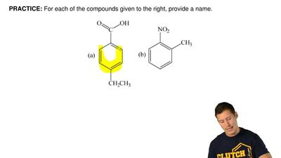 For each of the compounds given to the right, provide a name. ...