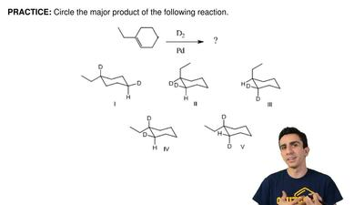 Circle the major product of the following reaction. ...