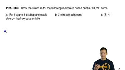Draw the structure for the following molecules based on thier IUPAC name  a. (...