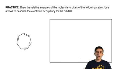 Draw the relative energies of the molecular orbitals of the following cation. ...